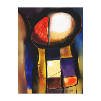 Impression on small size fabric, Abstract 3.1705 Canvas Print