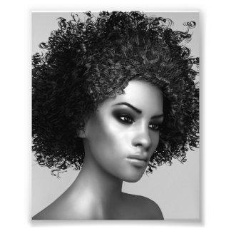 Impression Photo Cheveux d'Afro