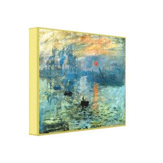 Impression Sunrise by Claude Monet Canvas Print