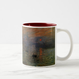 Impression Sunrise by Claude Monet, Vintage Art Two-Tone Coffee Mug