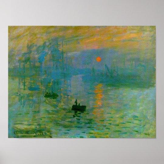 Impression Sunrise, Claude Monet Fine Art Poster