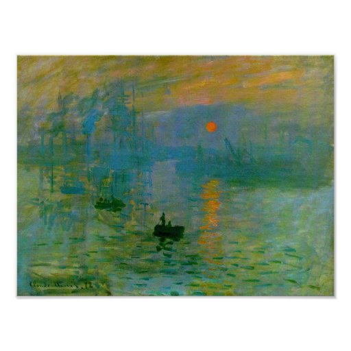 Impression Sunrise, Claude Monet Print Poster