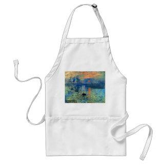 Impression Sunrise, Soleil Levant, Claude Monet Standard Apron