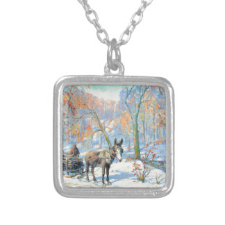 Impressionism | Fall Harvest Silver Plated Necklace