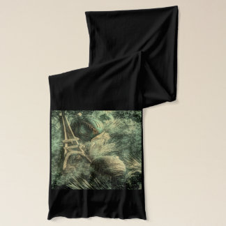 Impressionism french country chic eiffel tower scarf
