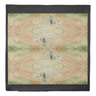 Impressionism Monet Poppy Field Duvet Cover