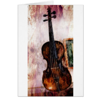 impressionism  musical instrument Fiddle Violin Card