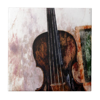 impressionism  musical instrument Fiddle Violin Tile