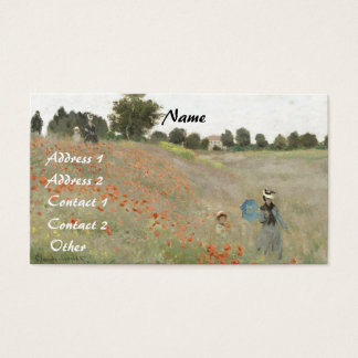 Impressionism Poppies Flowers Monet Business Card