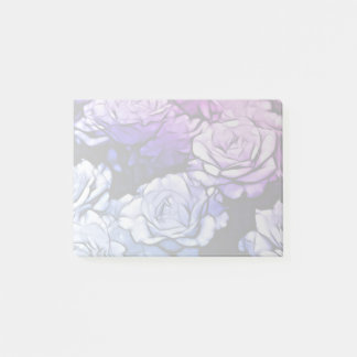 impressionism Shabby Chic Blue Purple Rose Post-it Notes