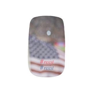 Impressionist American Flag Resistance Minx Nail Art