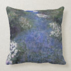 Impressionist Blue Forest Path Throw Pillow