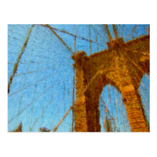 Impressionist Brooklyn Bridge Postcard