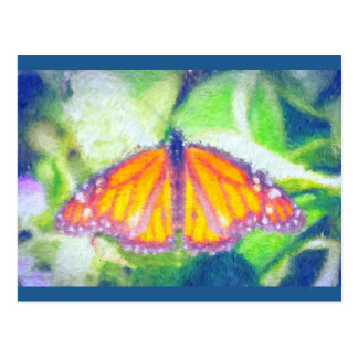 Impressionist Butterfly Postcard