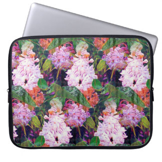 IMPRESSIONIST DOUBLE LILAC FLOWERS ORIGINAL LAPTOP SLEEVE