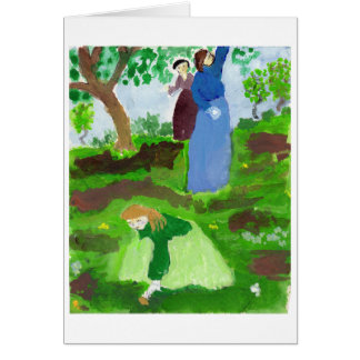 Impressionist homage note card