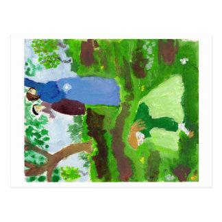 Impressionist homage postcard
