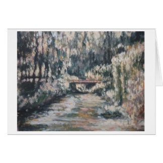 Impressionist Japanese Garden Greeting Card