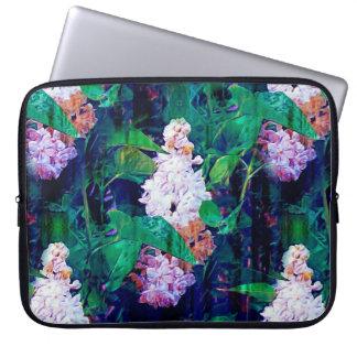 IMPRESSIONIST LILAC FLOWERS ORIGINAL indigo Laptop Sleeve