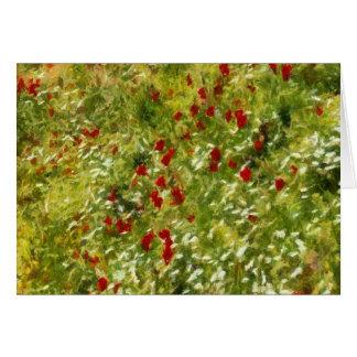 Impressionist Poppies Card