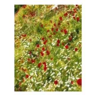 Impressionist Poppies Letterhead