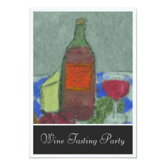 Impressionist Still Life with Wine Invitation
