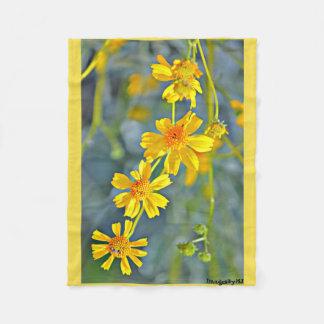 Impressionist Sunflower Small Fleece Blanket
