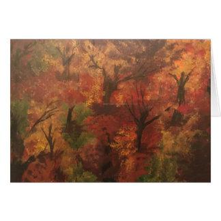 Impressionist Tree Art Card