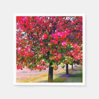 Impressionistic Autumn leaves Disposable Napkins