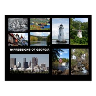 Impressions of Georgia Postcard