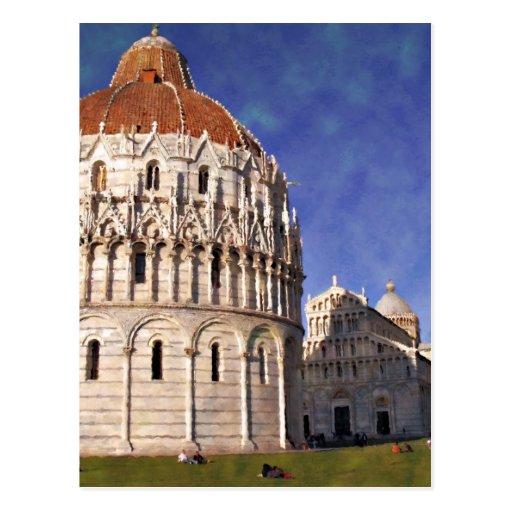 Impressitaly Pisa Battistero Postcards