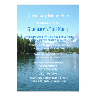 "impressive landscape  graduation ceremony 5"" x 7"" invitation card"