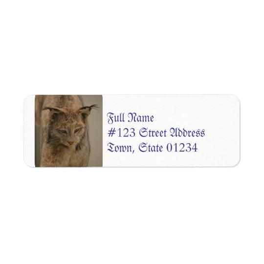 Impressive Lynx Return Address Label