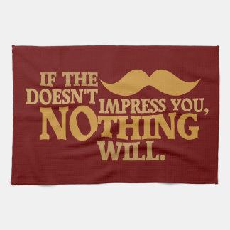 Impressive Moustache custom color kitchen towel