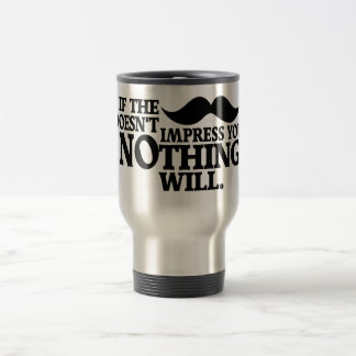 Impressive Moustache mug - choose style, color