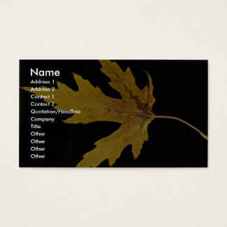 Impressive  Silver maple leaf Business Card
