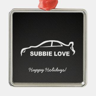 Impreza STI Silhouette with Carbon fiber Metal Ornament