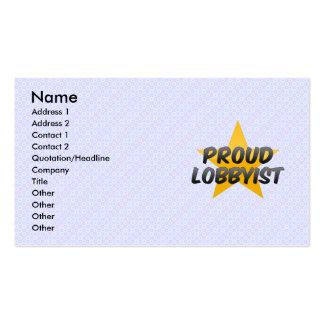 Imprimante de travail fière carte de visite