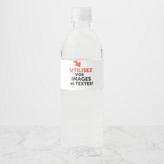 Imprimer vos designs en ligne DIY en Français Water Bottle Label
