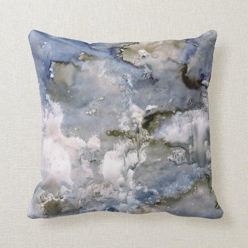 Improv Watercolor Series Abstract Pillows