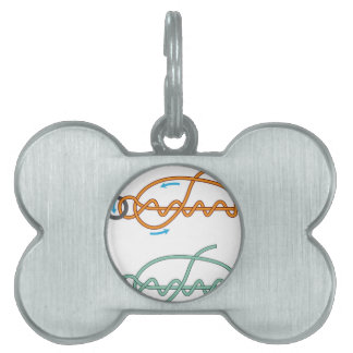 Improved clinch knot diagram two color version pet tag