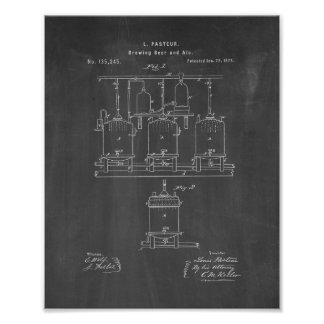Improvement In Brewing Beer And Ale Patent - Chalk Poster