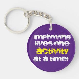 """Improving Lives.."" Keychain"