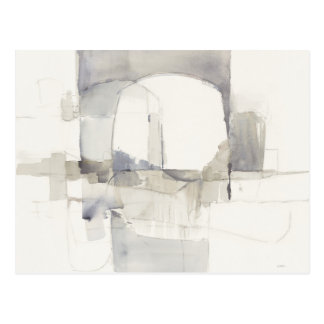 Improvisation I Gray Abstract Print Postcard