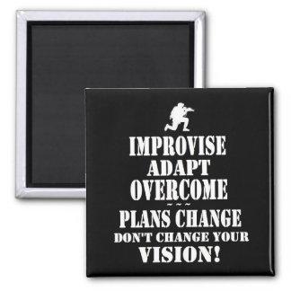 Improvise Overcome Adapt Magnet