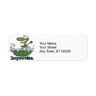 improvise turtle shell tubby tub cartoon return address label