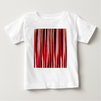 Impulsive Adventure Red Striped Abstract Pattern Baby T-Shirt