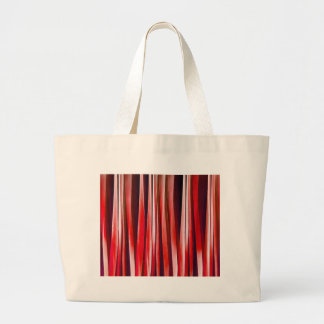 Impulsive Adventure Red Striped Abstract Pattern Large Tote Bag
