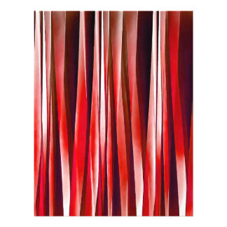 Impulsive Adventure Red Striped Abstract Pattern Letterhead