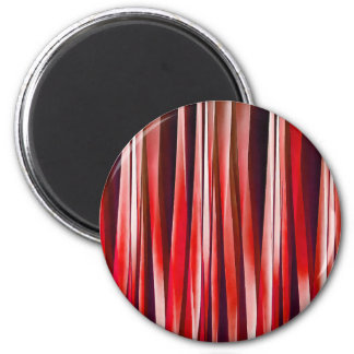 Impulsive Adventure Red Striped Abstract Pattern Magnet